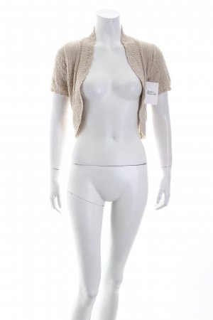 Pulse Strickjacke creme Lochstrickmuster Nude-Look