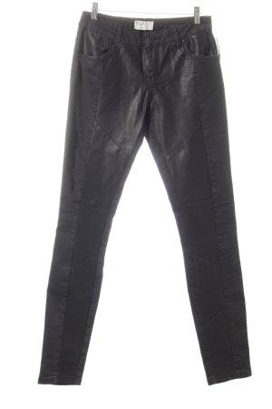 PULZ Jeans Stretch broek zwart atletische stijl