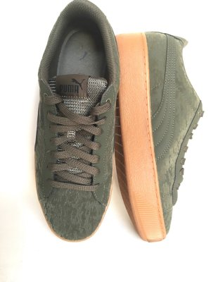 * Puma *  39 Vikky Platform Sneaker 39 Turnschuhe Schuhe Sport grün khaki neuwertig