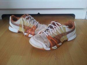 Puma accelerate Handball Schuhe Hallenschuh bronze weiß