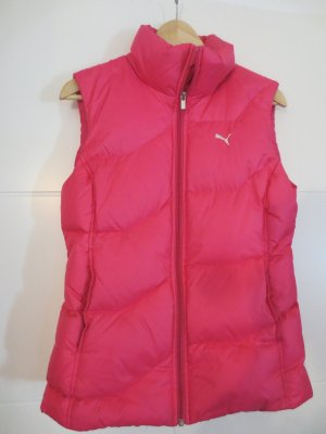 Puma, ärmellose Steppjacke, pink, Gr. 36, gut erhalten