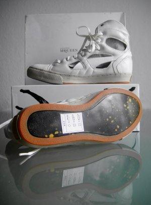 Puma Alexander McQueen Sneaker Turnschuhe Cut-Outs Weiß