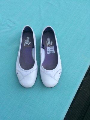 PUMA Ballerina Leder Gr. 37 (Gr. 4) weiß Leder neu