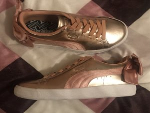 Puma Basket Bow Luxe Damen Schuhe Sneakers Gold 40,5 neu