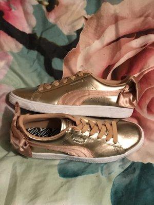 Puma Basket Bow Schuhe Sneakers Gold mit Schleife 40,5 neu