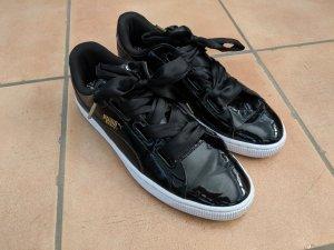 Puma Basket Heart 42,5 - Lack Sneaker schwarz, neuwertig