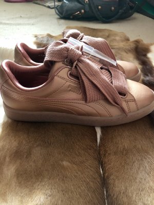 Puma basket heart copper