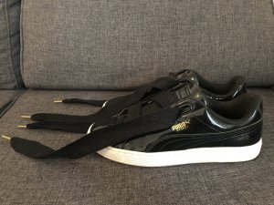 Puma Basket Heart in schwarz Lack