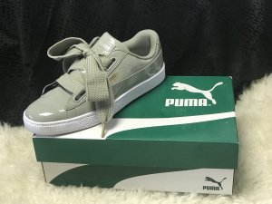 Puma Basket Heart Patent Wn's Rock Ridge NEU mit Karton EUR41 UK7.5 US10 Khaki Sneaker