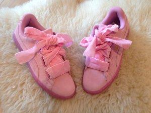 Puma Basket Heart sneaker echt Leder 37 pink