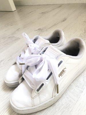 Puma Basket Heart Sneaker Schleife Weiß Fenty