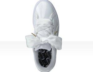 Puma Basket HEART Weiß glänzend