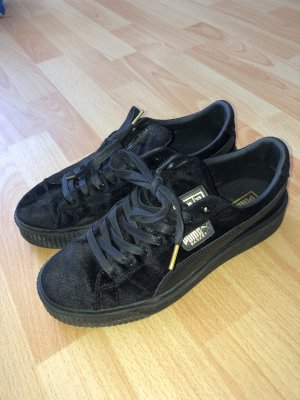 Puma Basket Schuhe Schwarz Gold