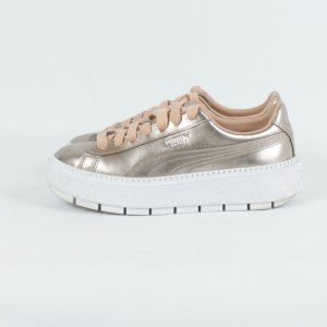 Puma Lace-Up Sneaker white-nude leather