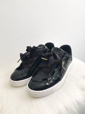 Puma Basket Sneaker schwarz glänzend