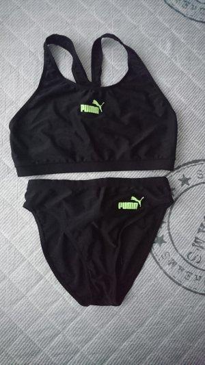 Puma Bas noir-vert fluo