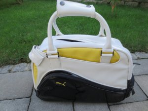 Puma Bowling Tasche, Lack weiß, gelb, schwarz