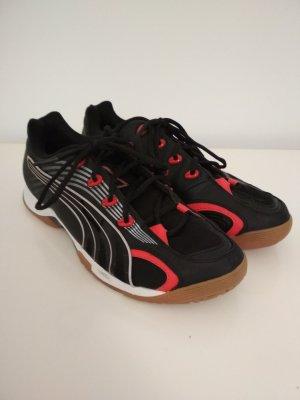 Puma Cell Sneaker Gr. 42,5 Hallensportschuhe Vibrant V 184080 03 schwarz rot