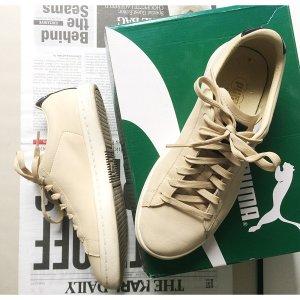 Puma Classic Mono Iced Sneaker beige 39 UK 6 Suede Sneakers Turnschuhe Glattes Leder schwarz