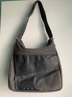 PUMA Crossbody-Tasche, grau, teils aus Leder