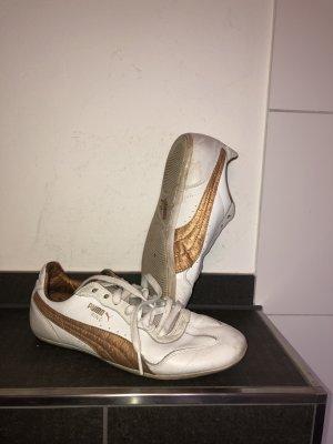 Puma Lace-Up Sneaker white-bronze-colored