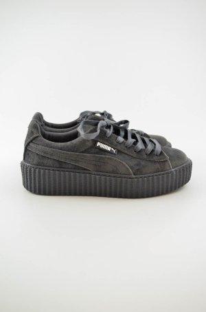 PUMA Damen Sneaker Mod. Puma Creeper Velvet Grau Samt Gummi Gr.UK 4,5/dt.37,5