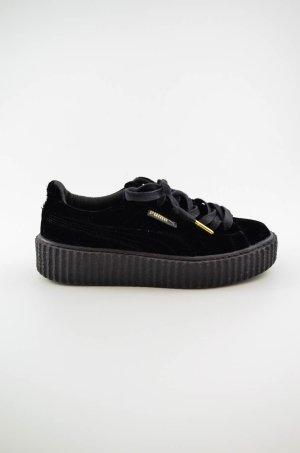 PUMA Damen Sneaker Mod. Puma Creeper Velvet Schwarz Samt Gummi Gr.UK 4,5/dt.37,5