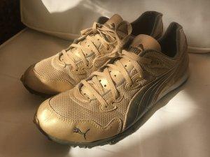 Puma Damen Sneakers Turnschuhe Gold 40