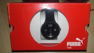Puma Damenuhr Slick Ladies Resin - Armband Quarzwerk Chronograph Schwarz
