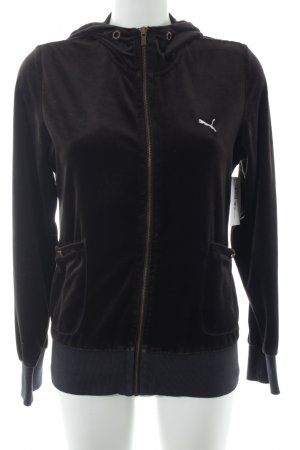 Puma Fleece Jackets dark brown athletic style