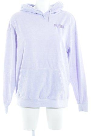 Puma Sudadera de forro púrpura look casual
