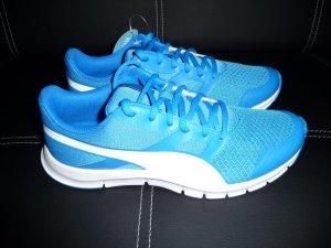 Puma Sneakers met veters wit-blauw Synthetisch