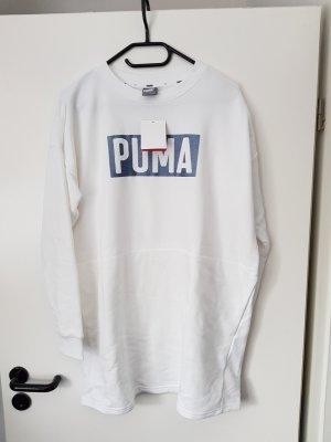 Puma Robe à manches longues blanc tissu mixte