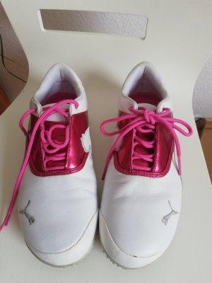 Puma Golfschuhe, Gr. 40, weiß pink