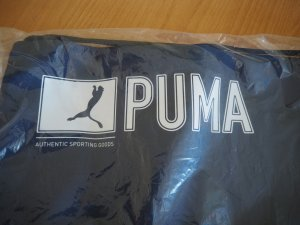 Puma Sporttas blauw-wit Gemengd weefsel