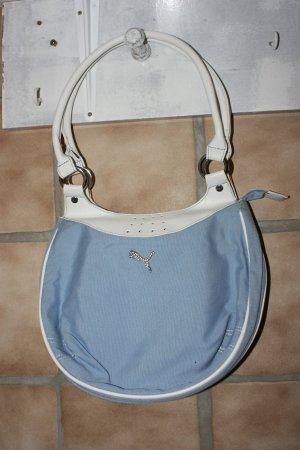 Puma Handtasche, rund, babyblau, wie neu