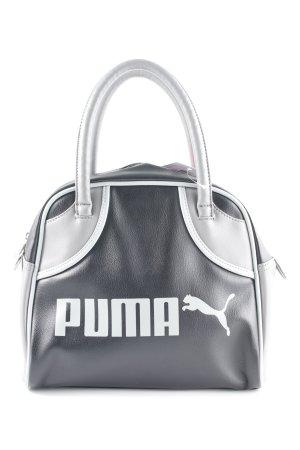 Puma Borsa con manico nero-grigio chiaro Stampa a tema stile urbano