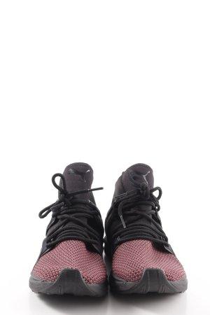 Puma High Top Sneaker schwarz-rot sportlicher Stil