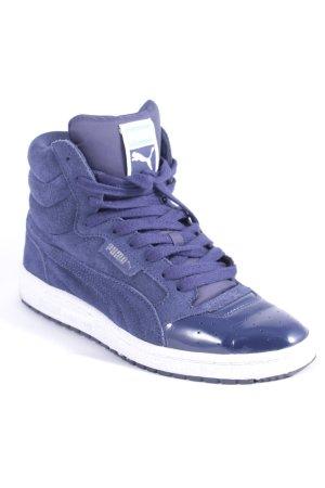 Puma High Top Sneaker dunkelblau Materialmix-Look