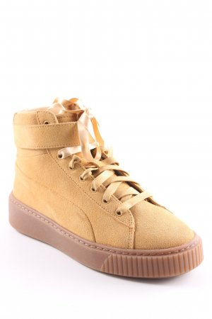 Puma High Top Sneaker hellbraun Casual-Look