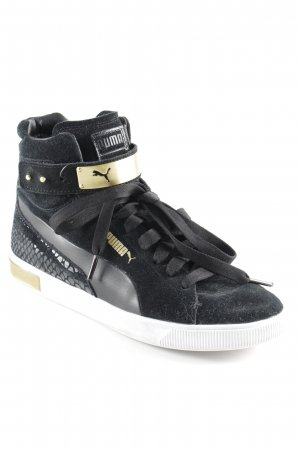 Puma High Top Sneaker schwarz-goldfarben Casual-Look