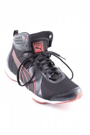 Puma High Top Sneaker schwarz-rot Casual-Look