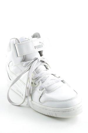 Puma High Top Sneaker weiß-hellgelb Casual-Look