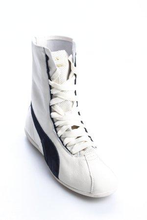 Puma High Top Sneaker weiß-schwarz sportlicher Stil