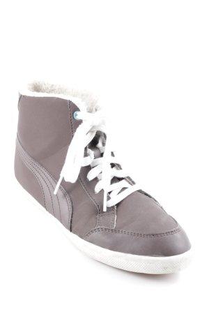 Puma High Top Sneaker wollweiß-dunkelbraun Casual-Look