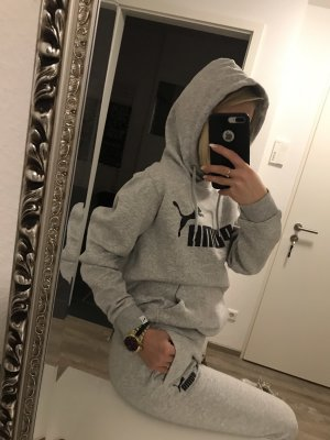 Puma Hooded Sweater grey-black