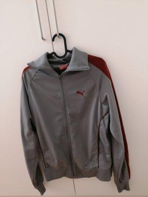 Puma Sports Jacket grey-dark red