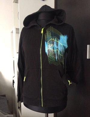 Puma Jacke schwarz, neongelb, türkis