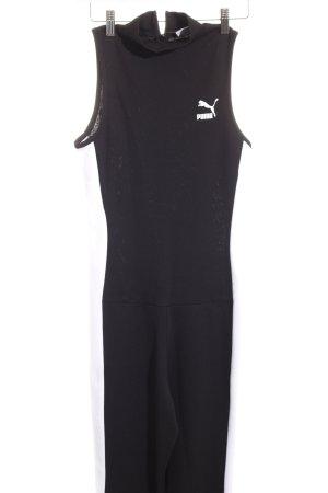 Puma Jumpsuit weiß-schwarz Streifenmuster Casual-Look
