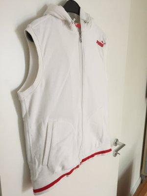 Puma Veste à capuche blanc-rouge
